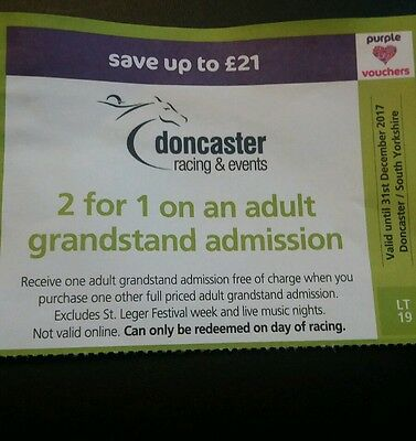doncaster racecourse grandstand 2 for 1 tickets