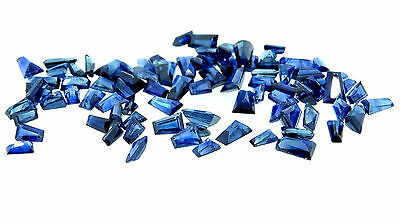 8.15ct mixed lot of natural tapered baguette cut blue sapphires