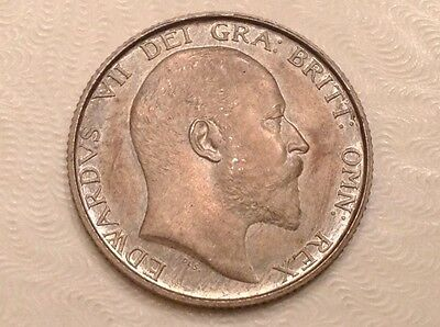 - 1902 Great Britain Edward VII Silver One Shilling Matte Proof