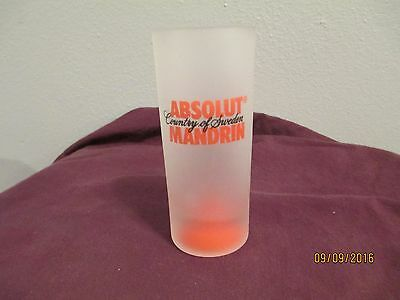 Absolut Mandrin vodka frosted shot glass-EUC