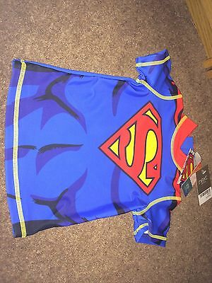 Swim Top Superman. 6-9month From Next. BNWT Uv Protection