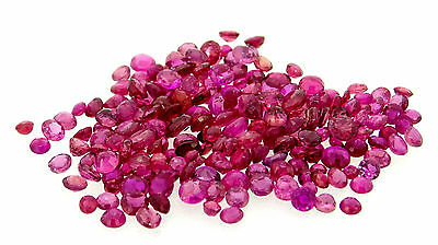 13.12ct mixed lot of round cut natural rubies