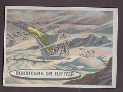 "Card from ""Space Cards"" issued by A&BC in 1958 no.82 Hurricane on Jupiter"