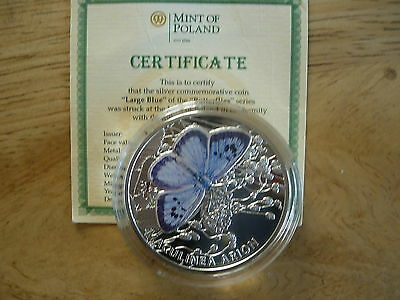 2011 Niue Large Blue Butterfly Silver Proof Coin