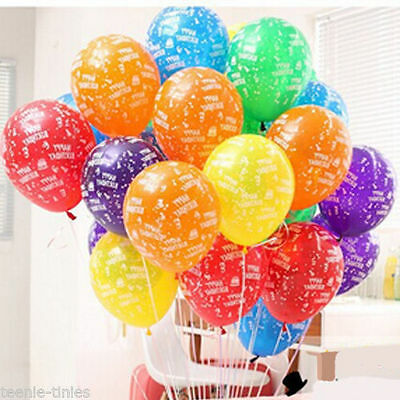 """12"""" Mix Colour Happy Birthday Printed Latex Balloons party decorations balloon"""