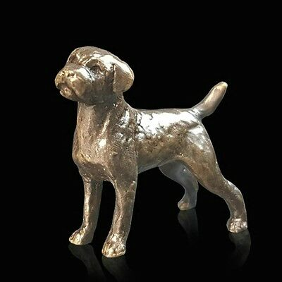 Border Terrier, Detailed Solid Bronze Miniature By Butler and Peach