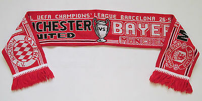 MANCHESTER UNITED v BAYERN MUNICH CHAMPIONS LEAGUE FINAL 1998/1999 SCARF SCHAL