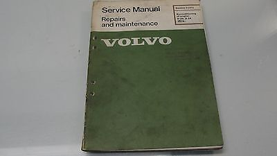 1979 Volvo Service Manual Reconditioning Of Engine D20, D24 Repairs