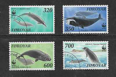 Faroe Islands Set Of Used Stamps - 1990 - W.w.f. - Whales