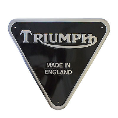 "Triumph ""Made In England"" - Patent Plate - Motorcycle Sign (19-50008)"