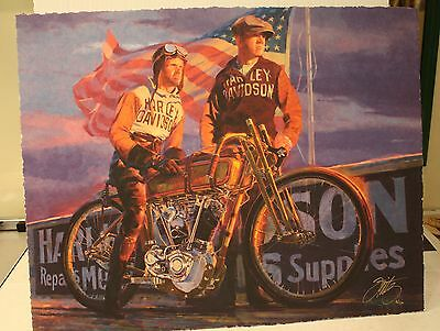 """Tom Fritz, """"Great Doings"""" harley davidson, signed and numbered  of 1200"""
