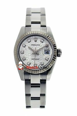 Rolex Lady-Datejust 179174 26mm Jubilee Silver Dial with Diamond Markers Watch