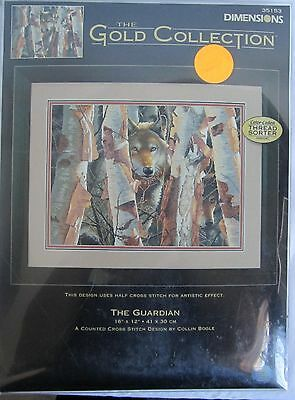 Dimensions #35153 Gold Collection Counted Cross Stitch The Guardian Wolf Wolves