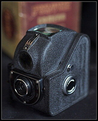Ensign Ful-Vue Camera with Case and Box.