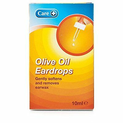 Pack of 3 Care + Olive Oil Ear Drops Gently Removes Earwax 10ml each