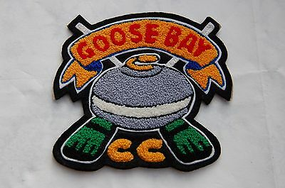 Vintage Goose Bay Canada Curling Club  Sew On Patch/Cloth Badge