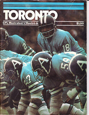 Sept. 18, 1976 CFL Illustrated Chuck Ealey, D. Shatto, Toronto Argonauts