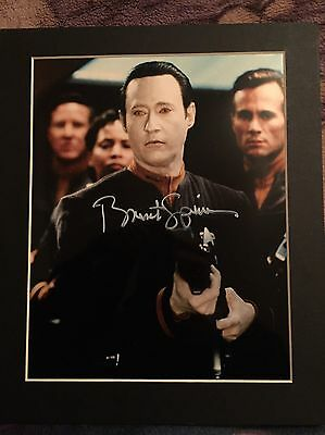 Signed Brent Spiner 8 X 10 Star Trek Mounted To 12x10