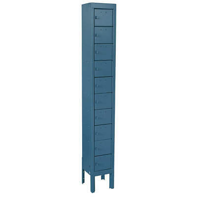 GRAINGER APPROVED Cell Phone Locker,1 Wide,10 High,Blue, 10Y620, Blue