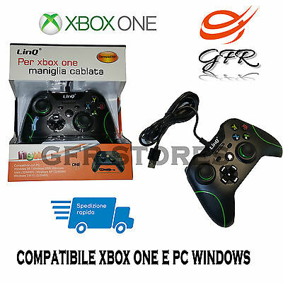 Controller Xbox One Compatibile Joypad Gamepad Joystick Linq Game Pad Pc