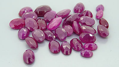 20.43ct lot of natural rubies opaque scrap gold jewellery gemstones gems