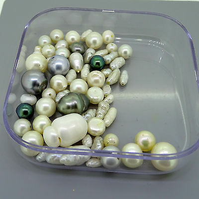92.11ct lot of mixed pearls tahitian baroque scrap gold jewellery gemstones gems