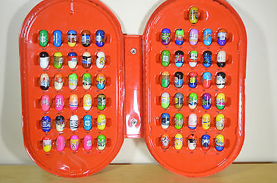 Lot of 61 Mighty Beanz With Case Ramdom