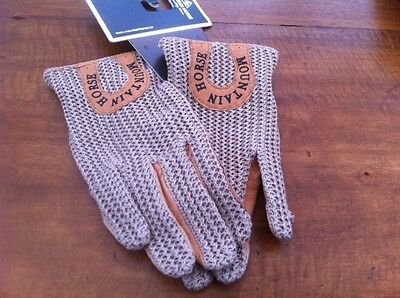 mountain horse leather riding / driving gloves size medium