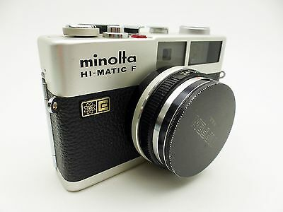 Minolta Hi-Matic F 35-mm Film Camera with lens and case AS IS