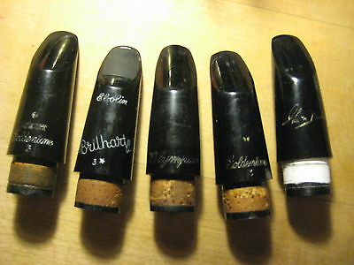 5 Clarinet Mouthpieces Brillhart, Goldentone, Olympian...?