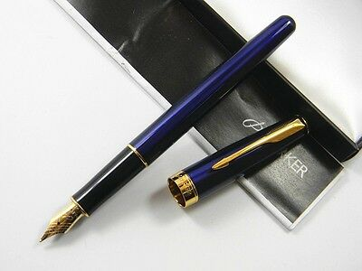 Parker Blue And Gold Sonnet Fountain Pen -Seller away until 29th