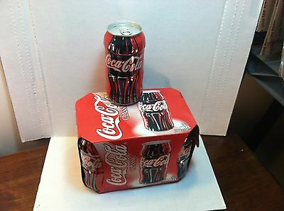 1997 Coca-Cola Coke 6 can pack of BO bottle shaped cans - complete set