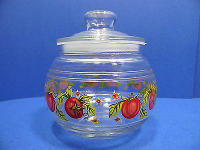 Glass Canister Storage Jar Glass Lid with Seal Tomatoe Motif KIG Indonesia