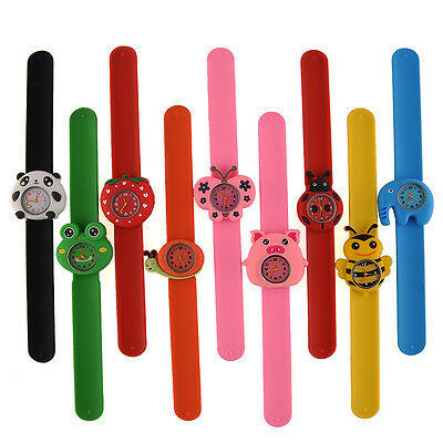 Cartoon Gel Unisex Quartz Rubber Kids Strap Wrist Watch Cute Unique Pattern