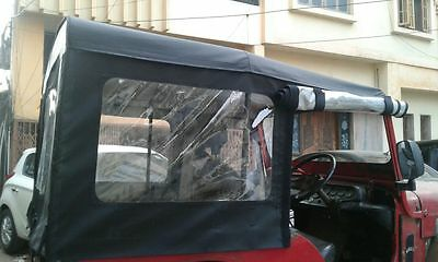 Stitched Soft Top For Jeep Willys Cj3B 1953-71 Black Or Gray