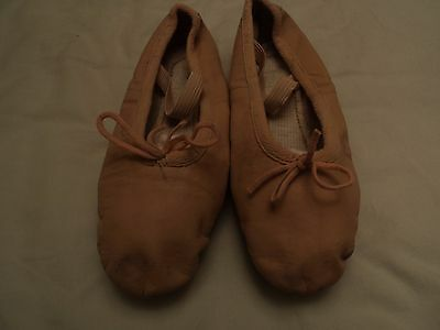 Pink leather ballet shoes, size 3