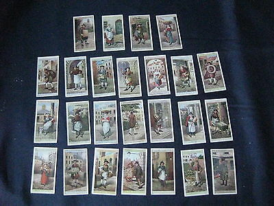 """Full set 25 cigarette cards """"Cries of London"""" Players 2nd series"""