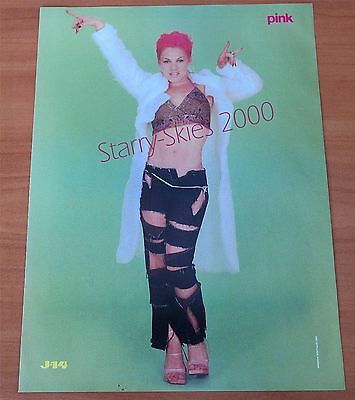 Pink~Justin Timberlake 2000 Double Sided Pin Up Clip