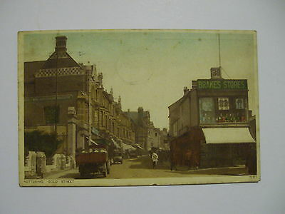 Postcard. Kettering Gold Street. Colour. 1932.