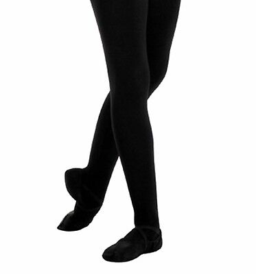 Boys Footed Ballet Tights Youth Dance Child Black Nylon Body Wrappers USA B90