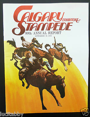 Calgary Exhibition Stampede 1975 Annual Report Attendance Shareholders Rodeo CDN