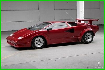 1987 Lamborghini Countach 5000 QV ($52K Full Engine-Out Service) 1987 Lamborghini Countach 5000 QV Engine Restoration New Clutch New Tires