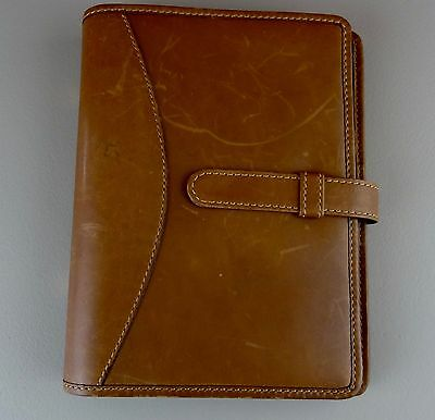 Fino Leatherware Hand Crafted Brown Leather Planner Agenda