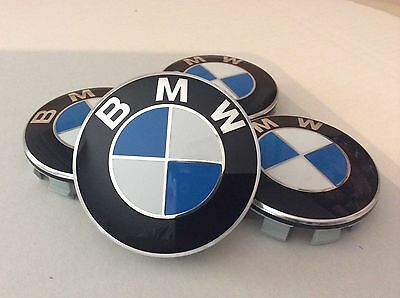 4x 68mm FITS BMW Center Wheel Cover Caps Logo Badge Emblem