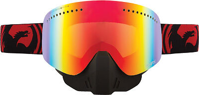 Dragon Alliance NFX Snow Goggles Jet Red Split/Red Ion Lens 722-1547