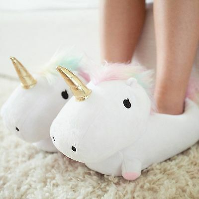 Unicorn Light Up Slippers // Unicorn USB Heated Slippers Pink and Purple, Choose