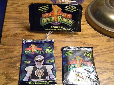 Mighty Morphen Power Rangers 1994 Trading cards 8 per pack