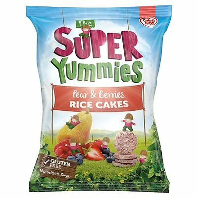 NEW Cow & Gate Super Yummies Pear & Berries Rice Cakes Packet 40g-12+ Months