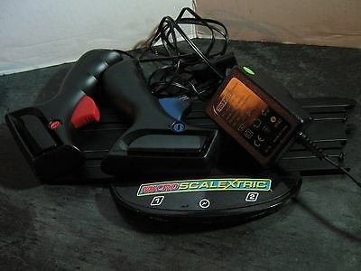 MICRO SCALEXTRIC new style POWER BASE TRACK,19 volt ADAPTOR, 2 CONTROLLERS