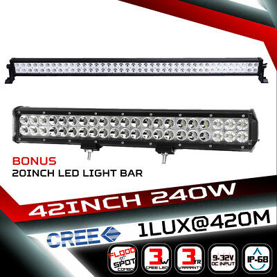 26inch 504W LED Light Bar Flood Spot Combo Work Driving Lamp SUV Philips Lumiled